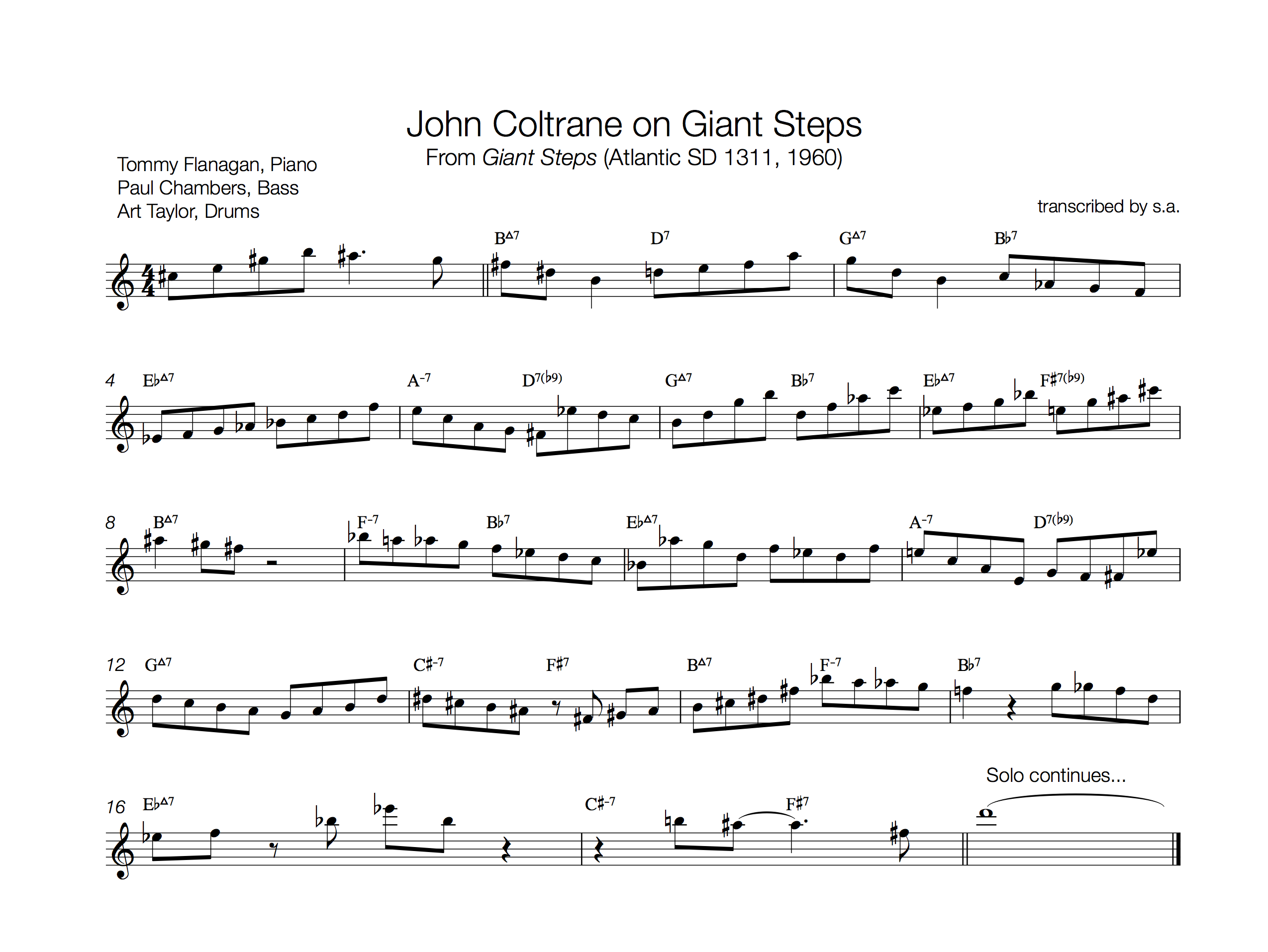 John Coltrane on Giant Steps pt1