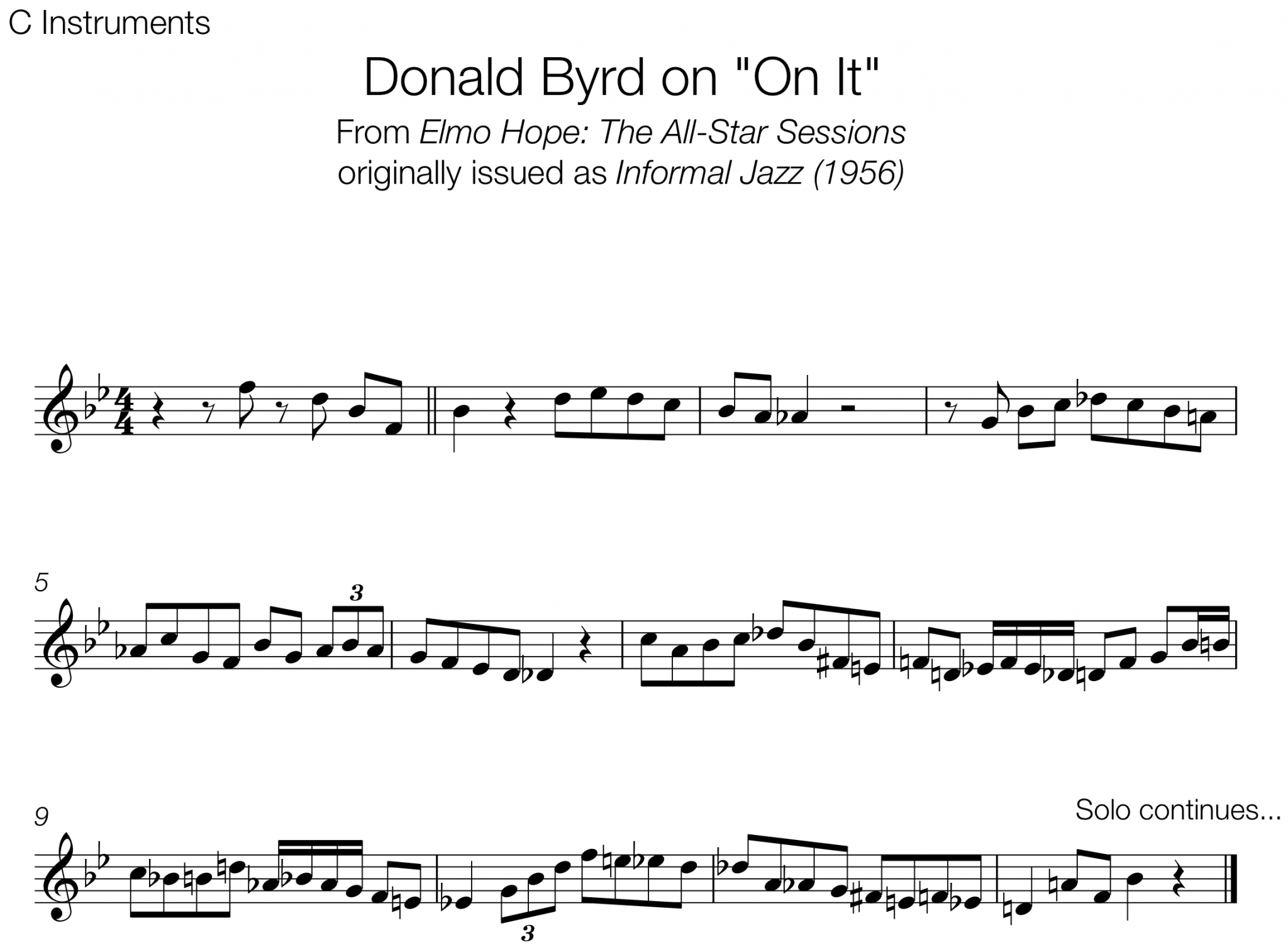 Transcription – Page 2 – The Jazz Language
