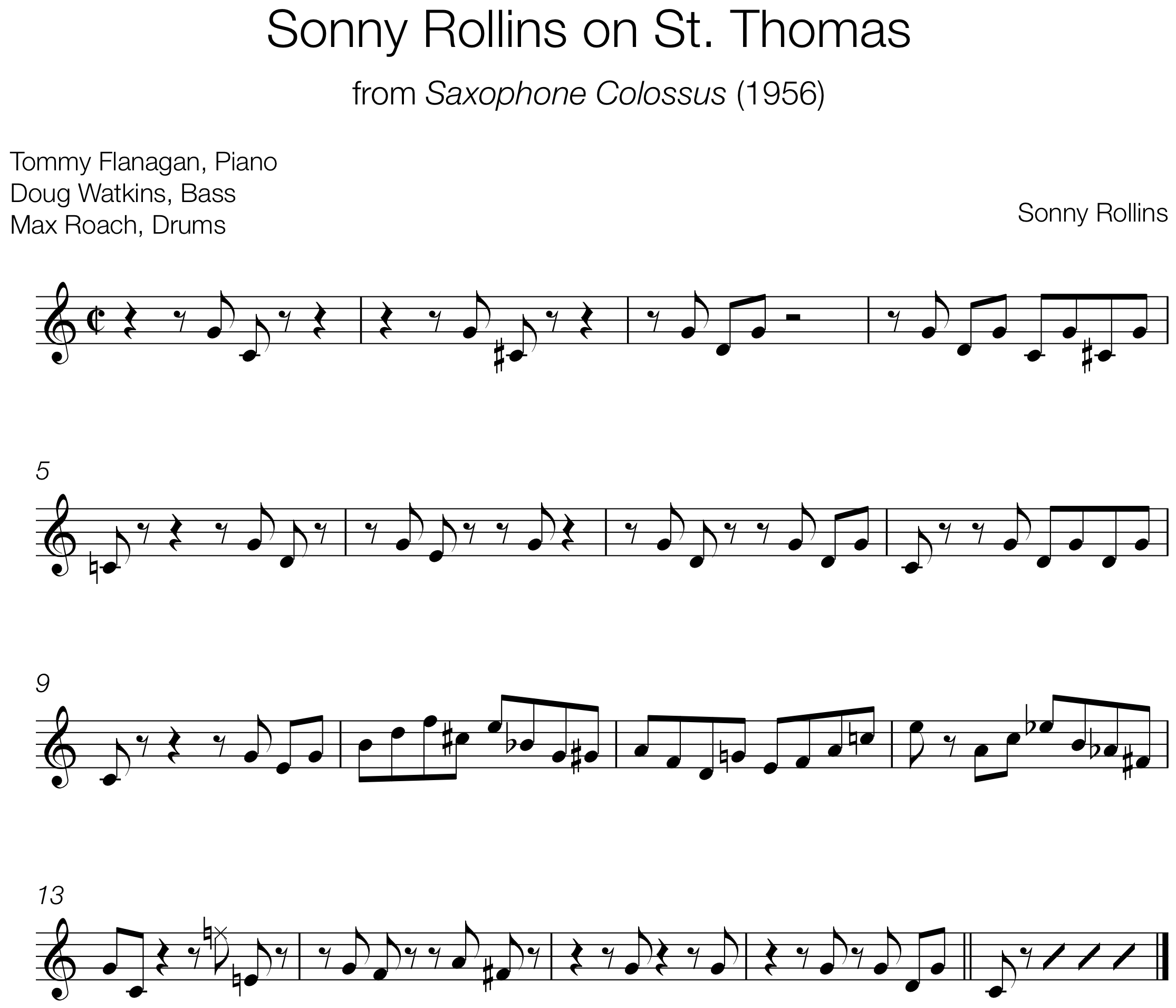 Sonny Rollins on St Thomas