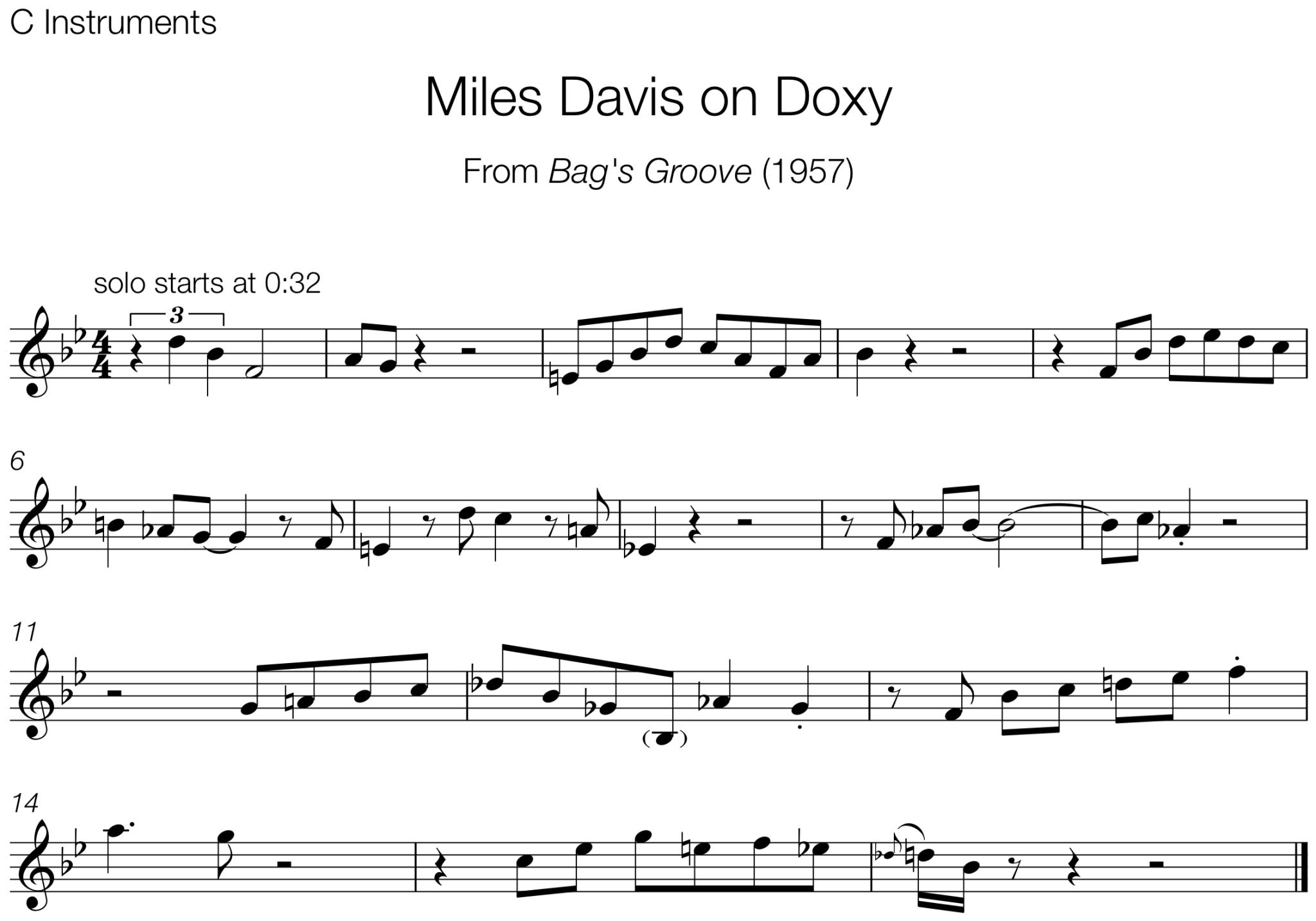 Miles Davis on Doxy – The Jazz Language